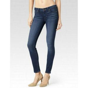PAIGE Verdugo Ultra Skinny Dark Wash Soft Jeans